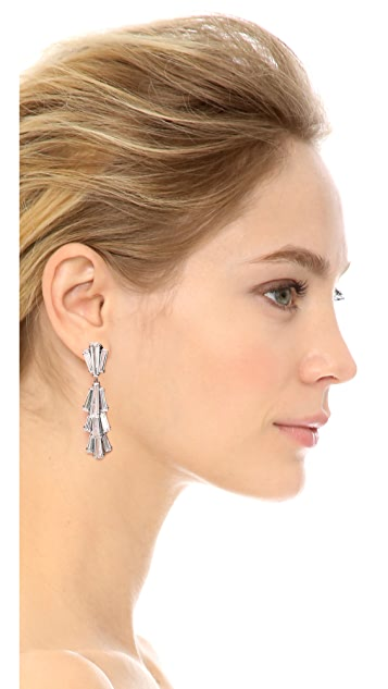 Jarin K Tapered Baguette Triple Dangle Earrings