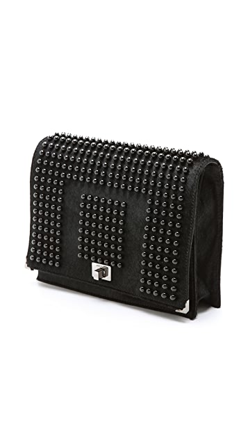 Jason Wu Jourdan Wristlet Studded Clutch