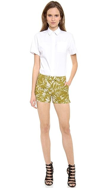 Jason Wu Short Sleeve Button Shirt