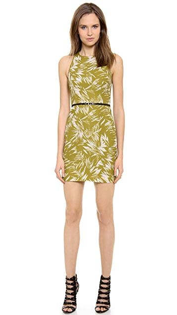 Jason Wu Botanical Linen Racer Back Dress