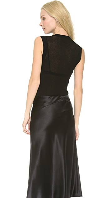 Jason Wu Sheer Rib Knit Sleeveless Pullover