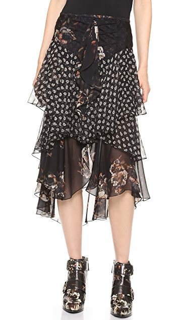 Jason Wu Silk Cascade Skirt