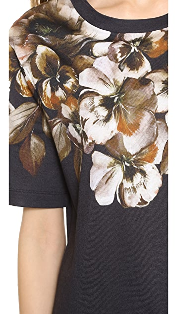 Jason Wu Floral Short Sleeve T-Shirt