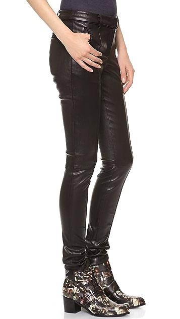 Jason Wu Stovepipe Leather Pants