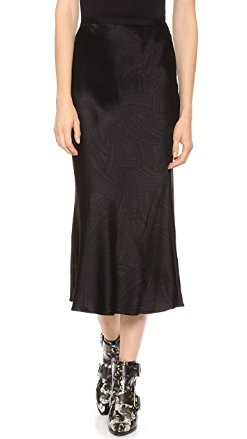 Jason Wu Bias Cut Midi Skirt