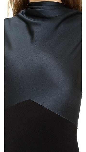Jason Wu Drape Neck Sheath Dress