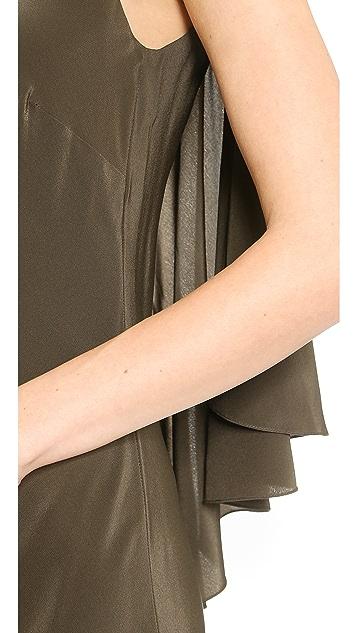 Jason Wu Silk Bias Cascade Slip Dress