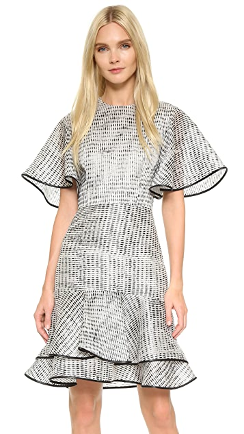 Jason Wu Woodgrain Bias Ruffle Dress