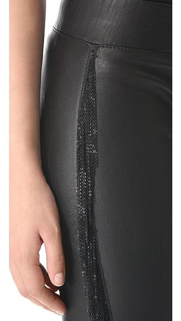 Jay Ahr Chain Fringe Leather Pants