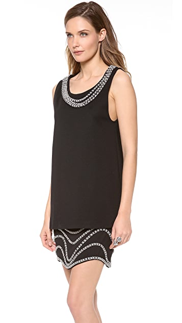Jay Ahr Chain Embroidered Top