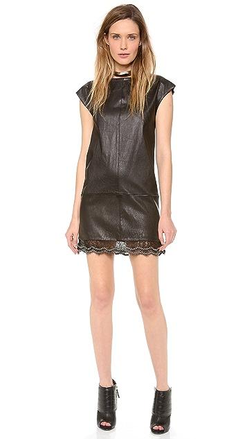 Jay Ahr Leather Dress