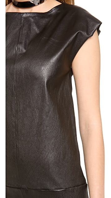 Jay Ahr Leather Dress