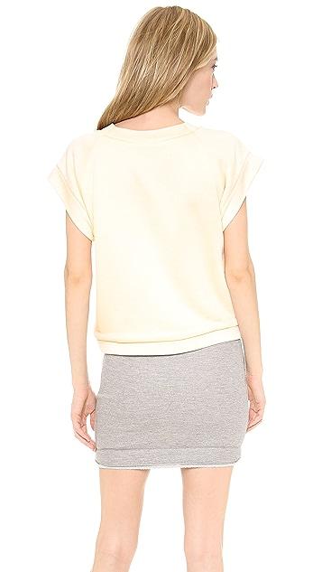 Jay Ahr Short Sleeve Crystal Pullover