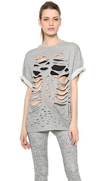 Jay Ahr Shredded Top