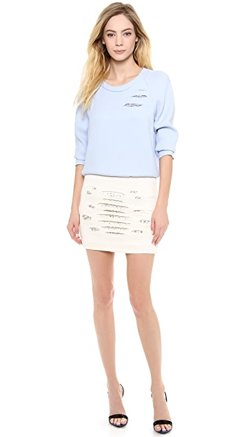 Jay Ahr Crystal Slashed Sweatshirt