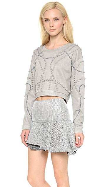 Jay Ahr Dorian Cropped Pullover