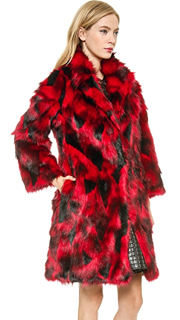 Jay Ahr Faux Fur Coat