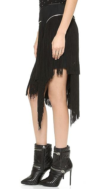 Jay Ahr Fringe Skirt