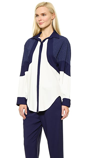 Jay Ahr Embroidered Beading Shirt