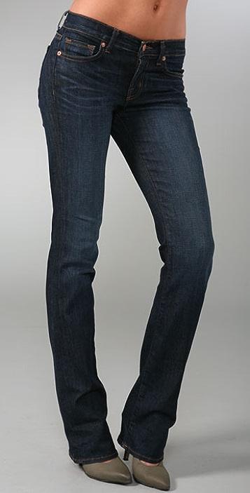J Brand Mid Rise Straight Leg Jeans