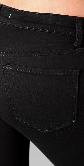 J Brand Mid Rise Slim Boot Cut Jeans