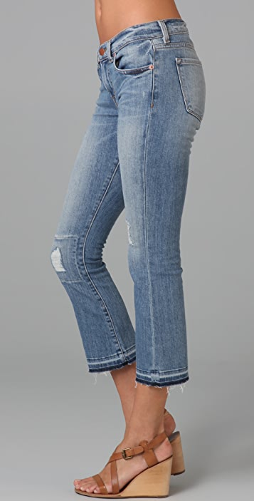 J Brand Repaired Gigi Cropped Flare Jeans