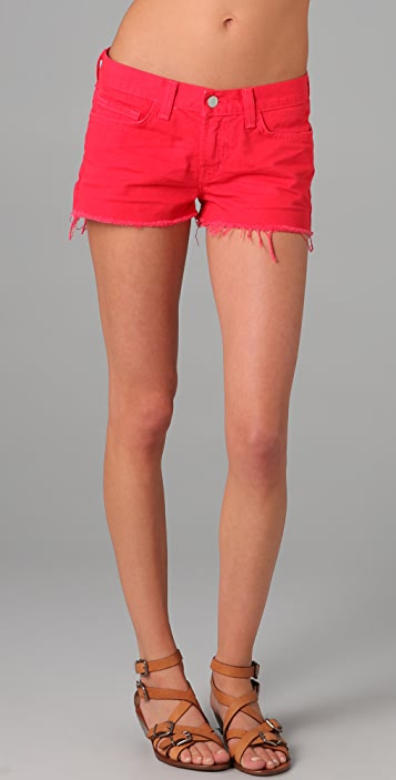 J Brand Low Rise Cutoff Shorts