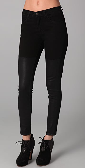 J Brand Half Coated High Rise Jeans