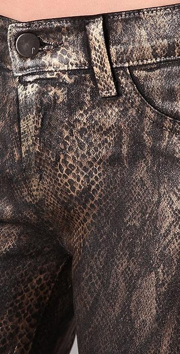 J Brand 901 Golden Snake Print Jeans