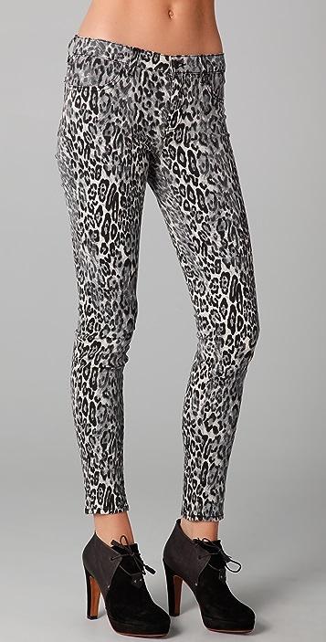 Snow Leopard Super Skinny Jeans