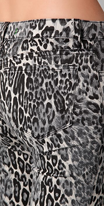 J Brand Snow Leopard Super Skinny Jeans