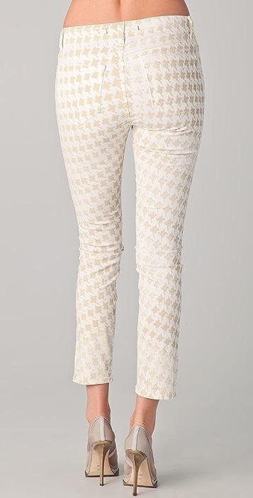 J Brand Houndstooth Skinny Jeans