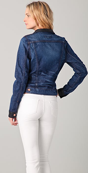 J Brand Denim & Leather Jacket