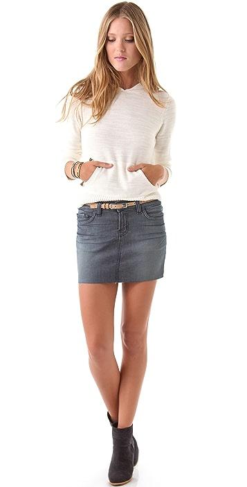 J Brand Railroad Stripe Miniskirt