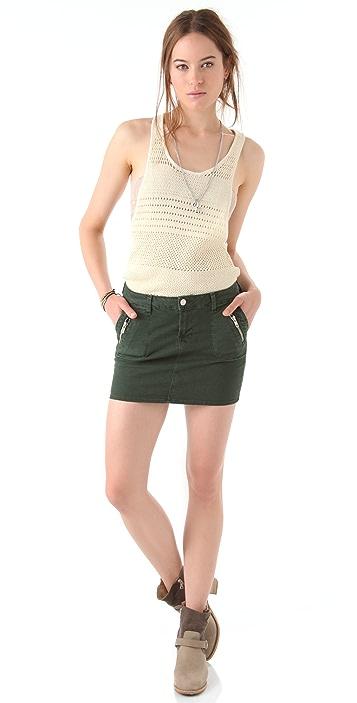 J Brand Ginger Zip Miniskirt