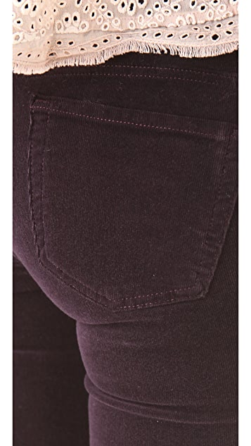 J Brand 612 Pencil Leg Corduroy Pants
