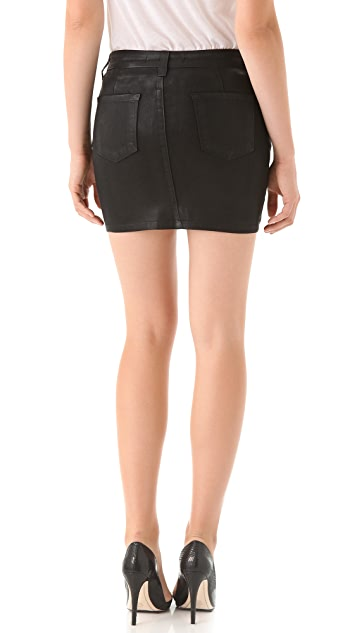 J Brand Nikko Coated Skirt