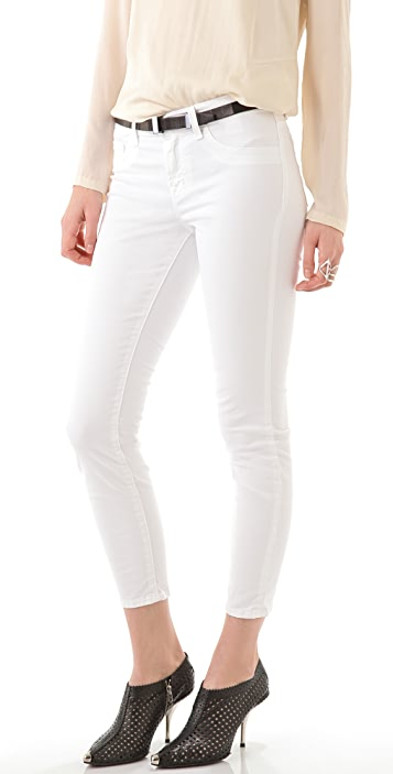 J Brand Mid Rise Skinny Capri Jeans