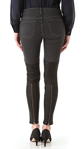 J Brand Skinny Jeans with Leather Panels