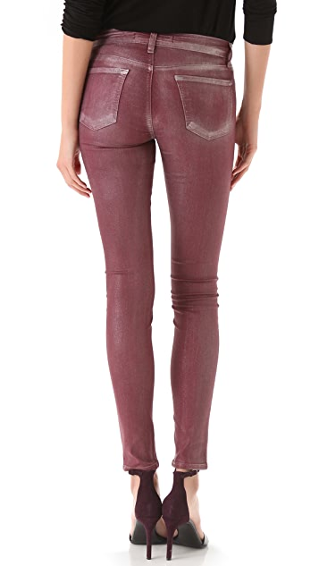 J Brand 901 Super Skinny Metallic Coated Jeans