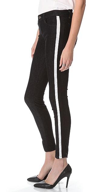 J Brand Rowan Stripe Skinny Jeans