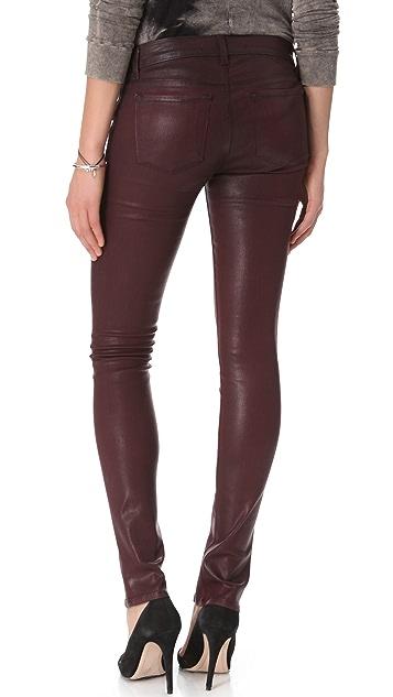 J Brand Vera Coated Skinny Jeans