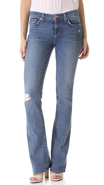 J Brand Janey Super Skinny Flare Jeans