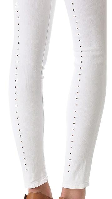 J Brand 620 Super Skinny Jeans with Eyelet Detail