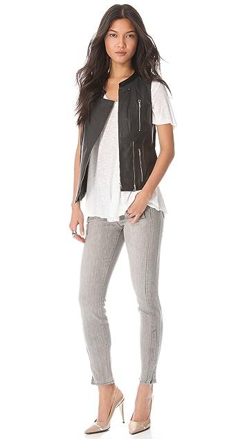J Brand 1552 Moto Zip Skinny Jeans
