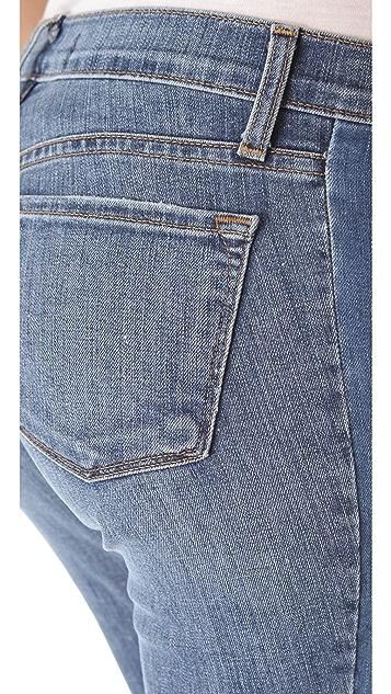 J Brand Chrissy Patchwork Skinny Jeans