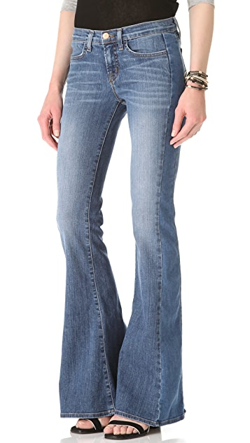 J Brand Chrissy Patchwork Flare Jeans