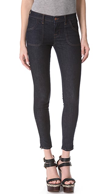 J Brand Retro Patch Pocket Skinny Jeans