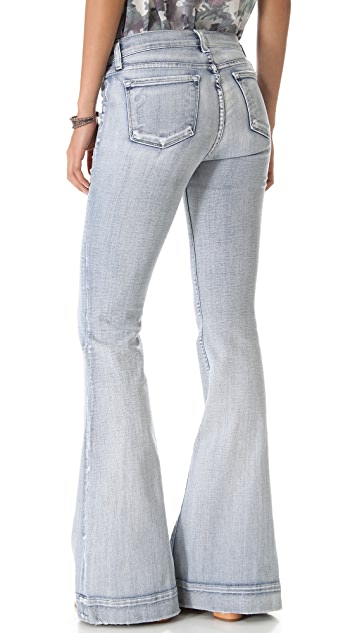 J Brand Retro Patch Pocket Flare Jeans