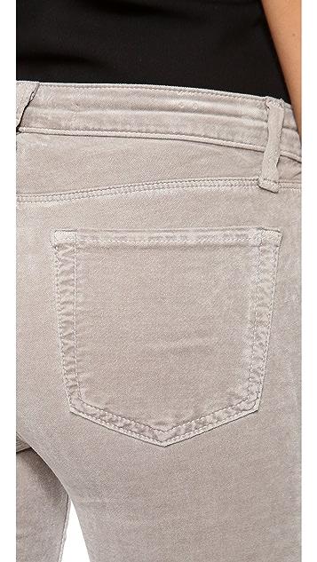 J Brand Luxe Velveteen Super Skinny Pants